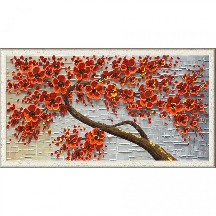 Рисунок на ткани (Бисер) КОНЁК арт. 8463 Цветочный декор 2 25х45 см