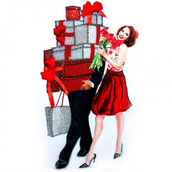 Набор для вышивания хрустальными бусинами ОБРАЗА В КАМЕНЬЯХ арт. 5514 Женское счастье 37х60 см