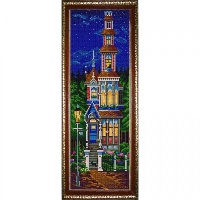 Рисунок на ткани (Бисер) КОНЁК арт. 9816 Сказочный домик 25х65 см