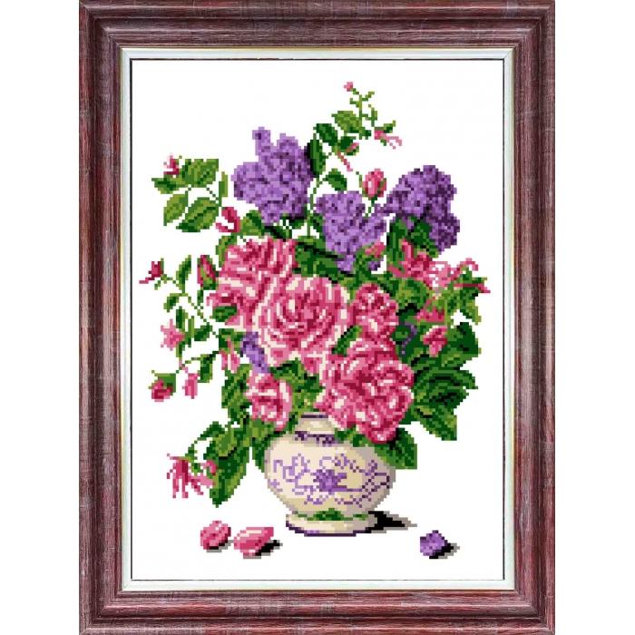 Канва с нанесенным рисунком КАРОЛИНКА арт. КК-054 Запах роз 23х30 см