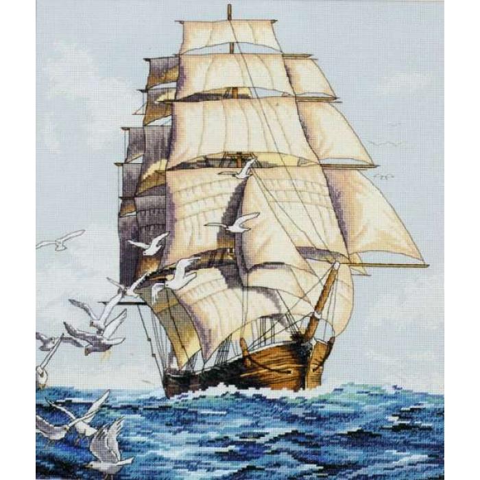 Набор для вышивания DIMENSIONS арт.DMS-03886 Морское путешествие 30х36 см