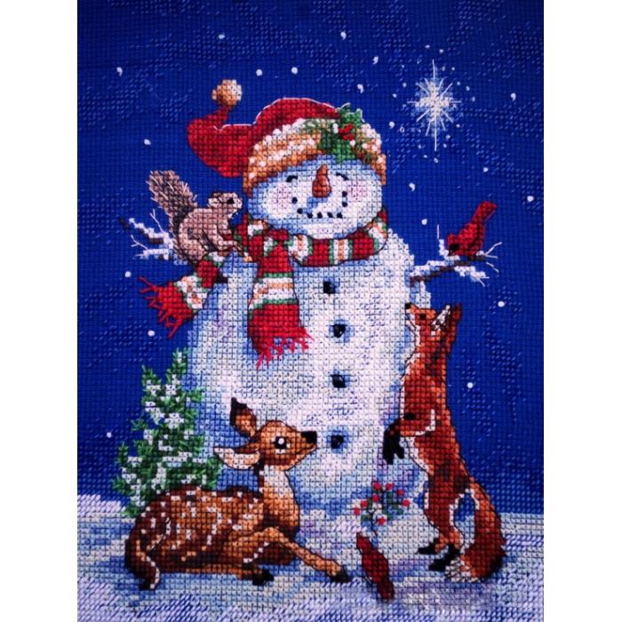 """Набор для вышивания Classic Design арт.4383 """"Снеговик"""" 13х18 см"""