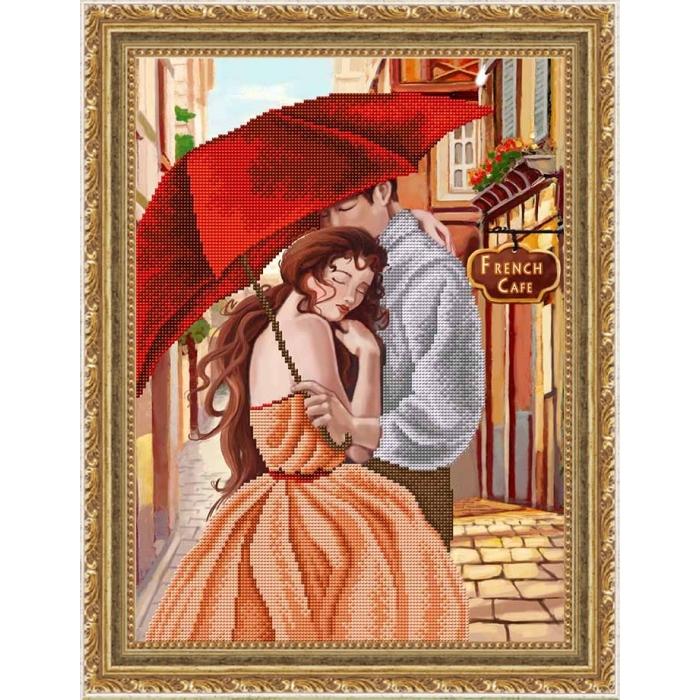 Набор для вышивания бисером СЛАВЯНОЧКА арт. НК-3077 Нежность 28х38 см