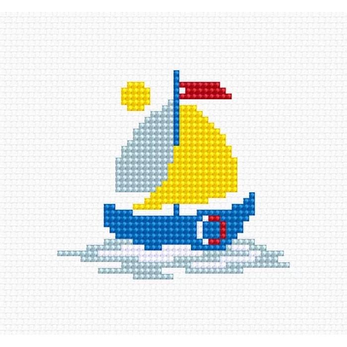Набор для вышивания LUCA-S арт. B096 Кораблик 7х7,5 см