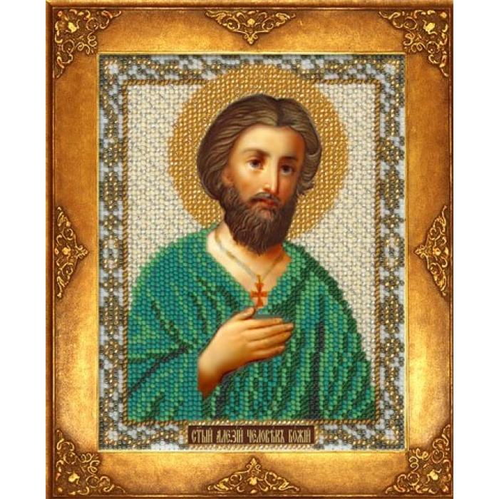 Набор для вышивания бисером РУССКАЯ ИСКУСНИЦА арт.219 БИ Св. Алексий 12,5х16,3 см