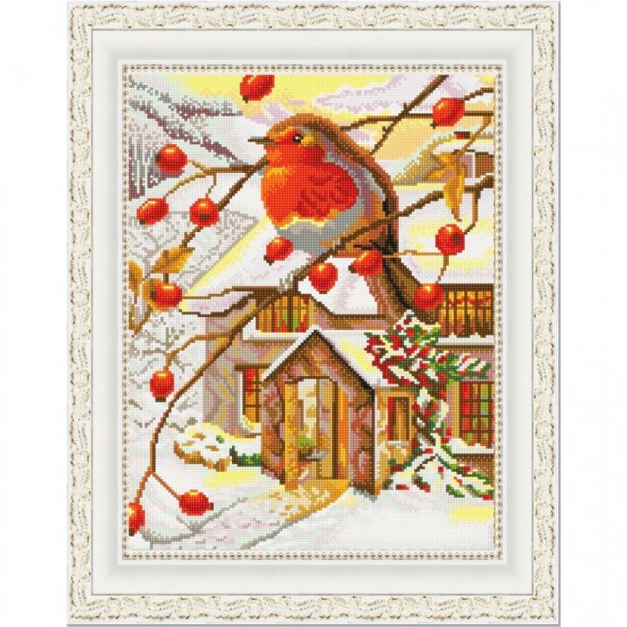 Рисунок на ткани (Бисер) КОНЁК арт. 9927 На ветке 29х39 см