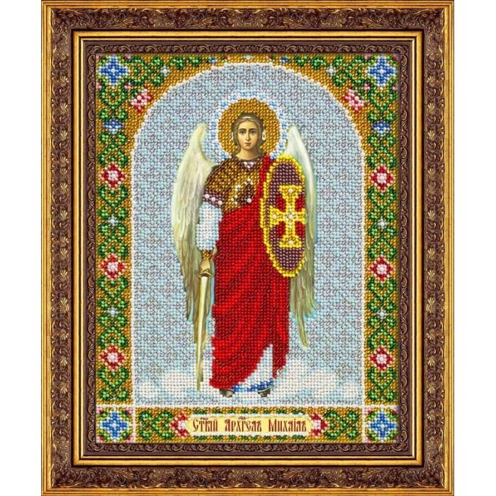 Набор для вышивания бисером ПАУТИНКА арт.Б-1050 Св.Арх.Михаил 25х20 см