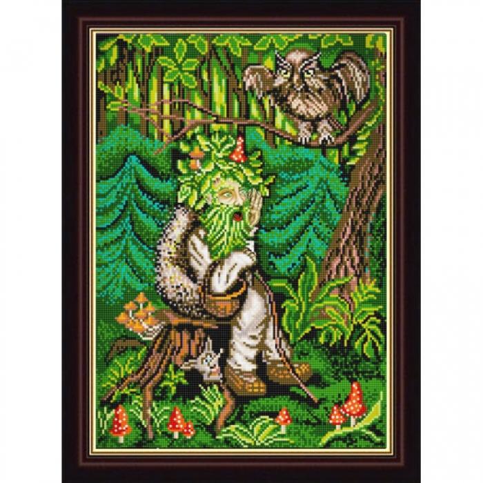Рисунок на ткани (Бисер) КОНЁК арт. 1209 Леший 29х39 см