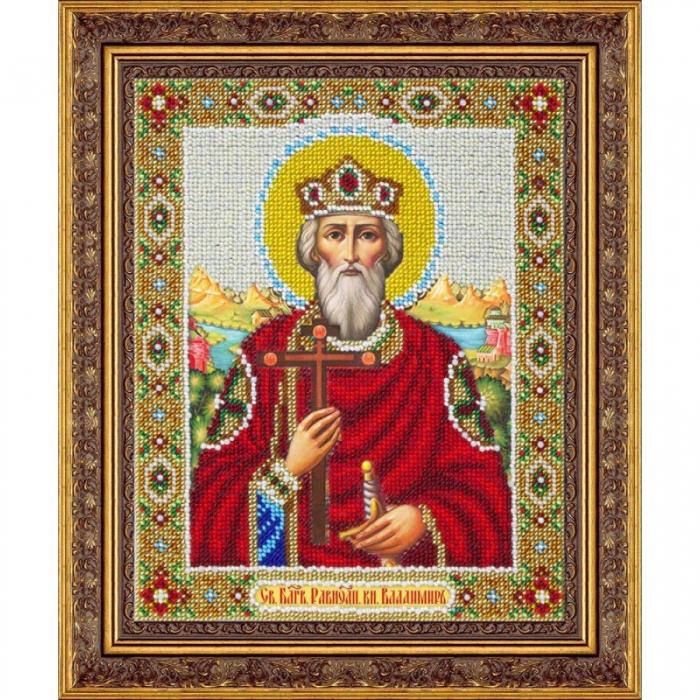 Набор для вышивания бисером ПАУТИНКА арт.Б-1008 Св.Равноап.князь Владимир 20х25 см