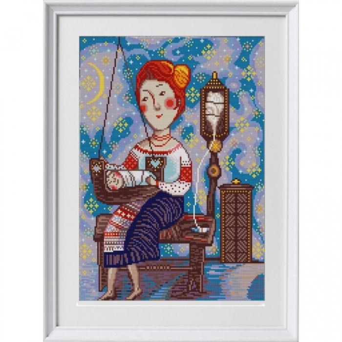 Рисунок на ткани (Бисер) КОНЁК арт. 1309 Колыбельная 29х39 см