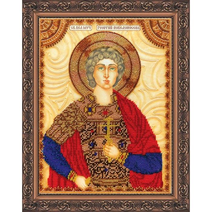 Набор для вышивания бисером АБРИС АРТ арт. AA-053 Св.Георгий 23х30 см