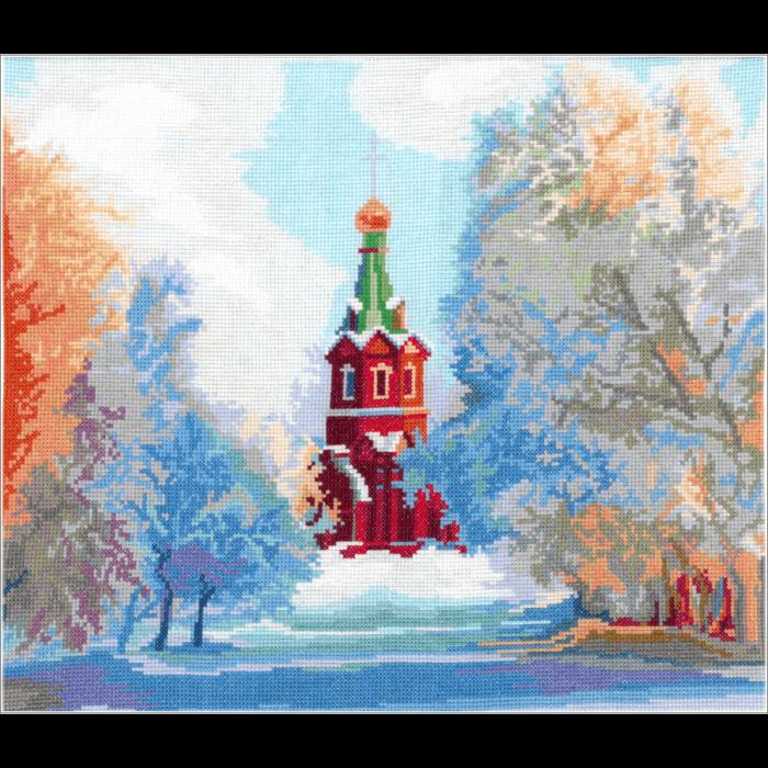 Набор для вышивания мулине НИТЕКС арт.0052 Свято-Никольский Храм 36х29,5 см