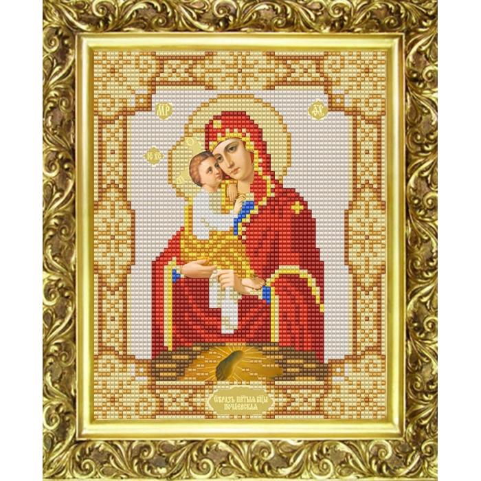 Рисунок на ткани (Бисер) КОНЁК арт. 9115 Богородица Почаевская 15х18 см
