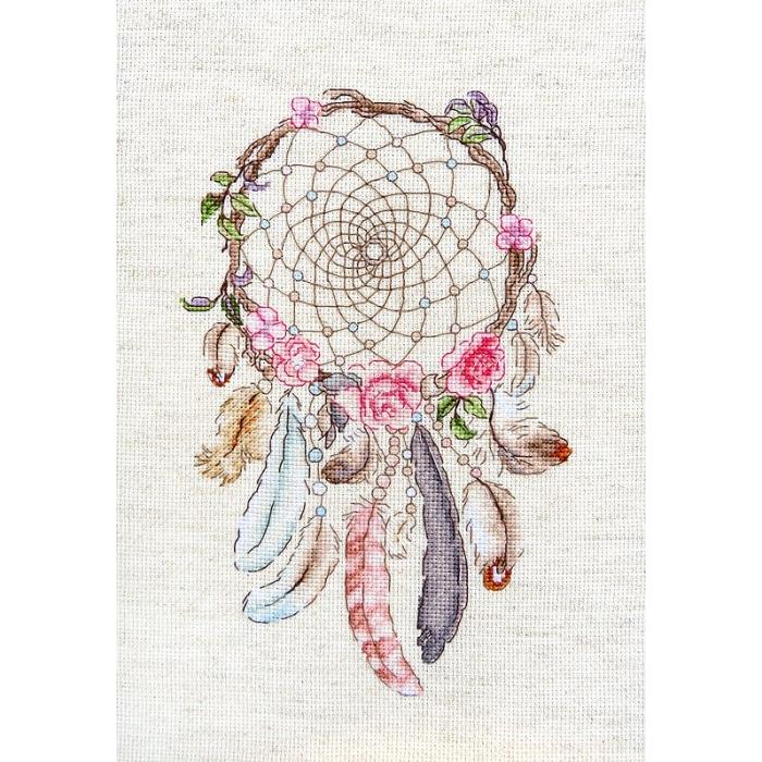 Набор для вышивания LETI арт. 957 Живи своими мечтами 23х15 см