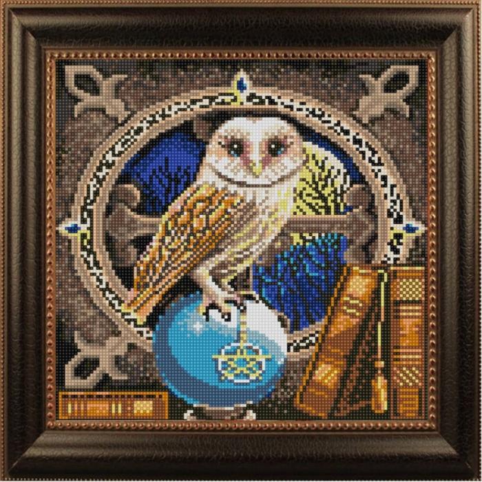 Рисунок на ткани (Бисер) КОНЁК арт. 1206 Мудрая птица 25х25 см