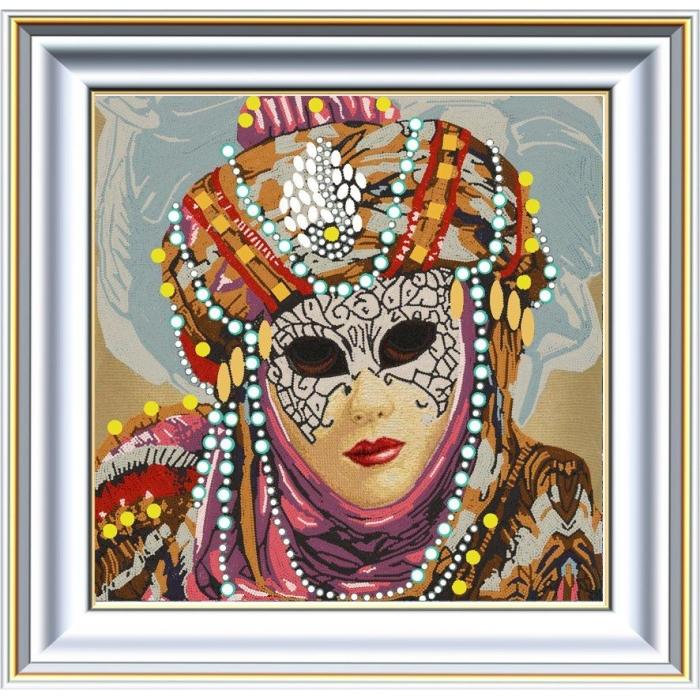 Рисунок на ткани (Бисер) КОНЁК арт. 8434 Коломбина 2 40х40 см
