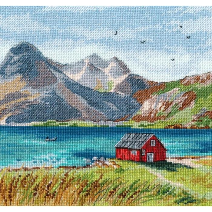 Набор для вышивания ОВЕН арт. 1280 Лофотенские острова 20х20см