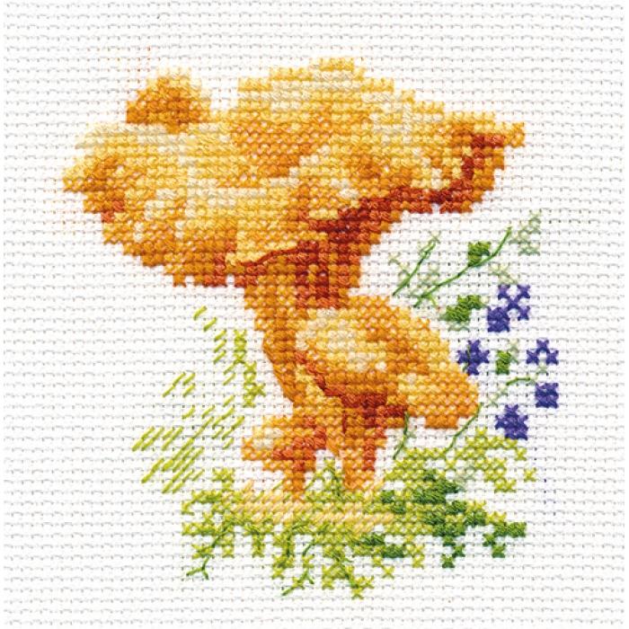 Набор для вышивания АЛИСА арт.0-143 Лисички 9х9 см