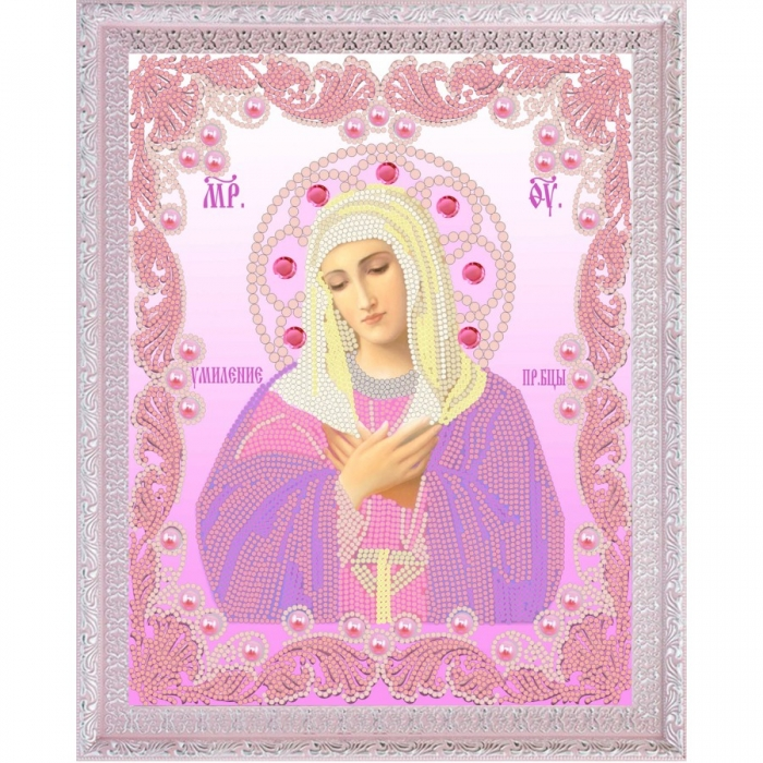 Рисунок на ткани (Бисер) КОНЁК арт. 7109 Богородица Умиление 20х25 см