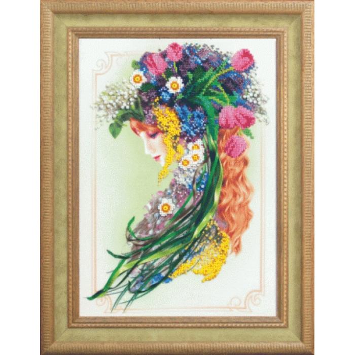 Набор для вышивания бисером ЧАРИВНА МИТЬ арт.Б-641 Посланница весны 22,5х31,5 см