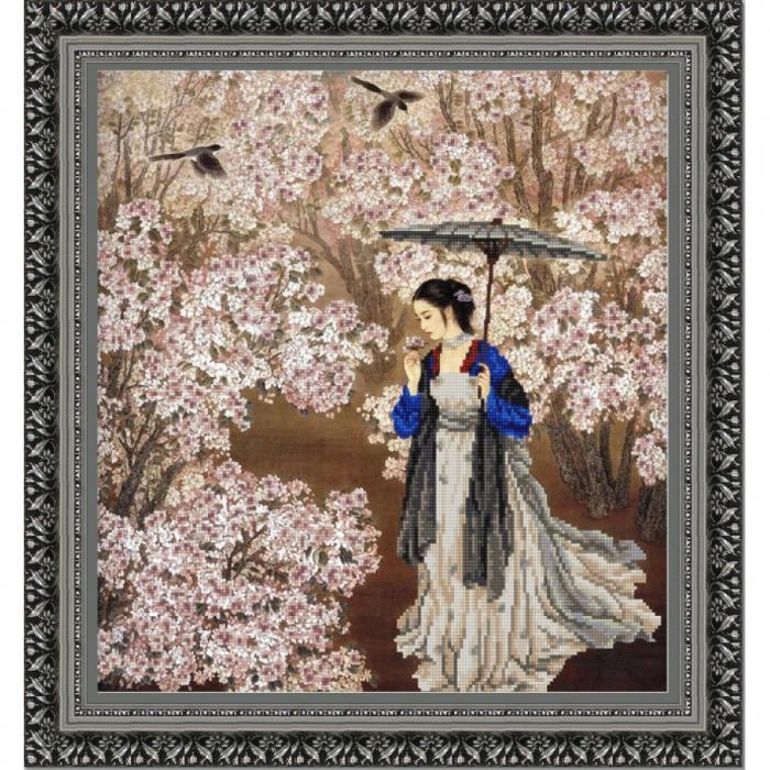Рисунок на ткани (Бисер) КОНЁК арт. 9839 В саду 40х40 см