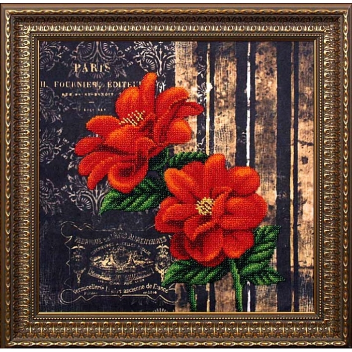 Набор для вышивания бисером МАГИЯ КАНВЫ арт.Б060 Французкие цветы 29х29 см