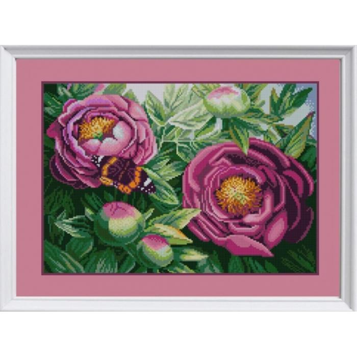 Рисунок на ткани (Бисер) КОНЁК арт. 1278 Цветы из сада 29х39 см