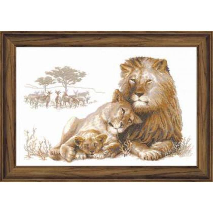 Набор для вышивания РИОЛИС арт.100/013 Львиный рай 60х40 см