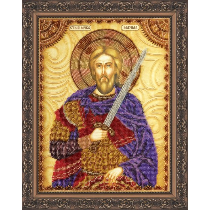 Набор для вышивания бисером АБРИС АРТ арт. AA-039 Св.Максим 23х30 см