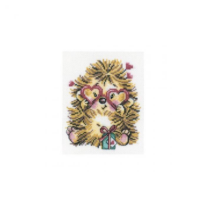 Набор для вышивания РТО арт.C152 Влюбленный ежик 13х17 см