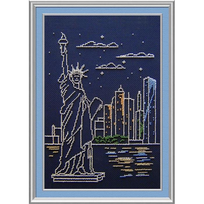 Набор для вышивания бисером МП СТУДИЯ арт.БК-184 Нью-Йорк 30х20 см