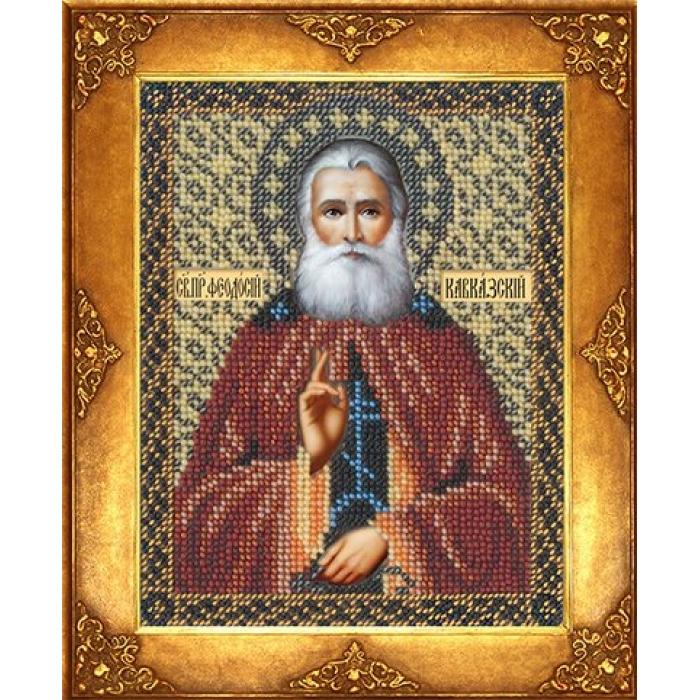 Набор для вышивания бисером РУССКАЯ ИСКУСНИЦА арт.229 БИ Св. Феодосий 12,5х16,3 см