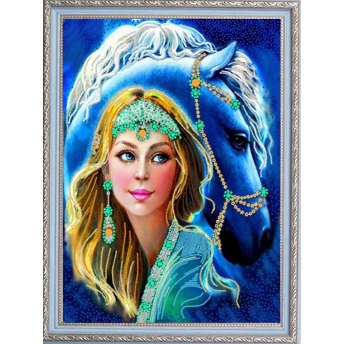 Рисунок на ткани (Бисер) КОНЁК арт. 8447 Грация 29х39 см