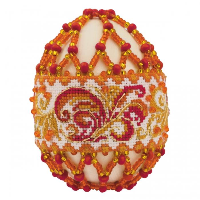 Набор для бисероплетения РИОЛИС арт.В217 Яйцо пасхальное Рябиновые бусы 6,5х5 см