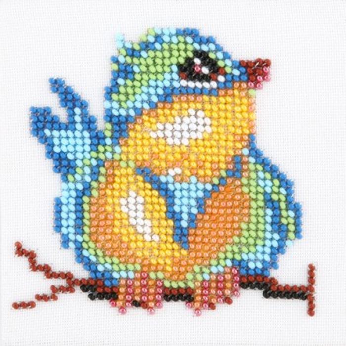 Набор для вышивания бисером LOUISE арт. L446 Синичка 11х11 см