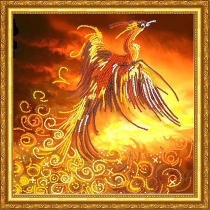 Рисунок на ткани (Бисер) КОНЁК арт. 8464 Феникс 25х25 см