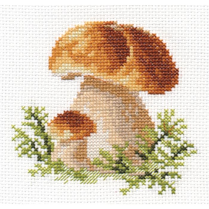 Набор для вышивания АЛИСА арт.0-144 Белые грибы 10х10 см