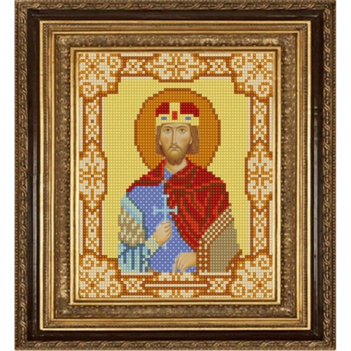 Рисунок на ткани (Бисер) КОНЁК арт. 9172 Св. Вячеслав 15х18 см