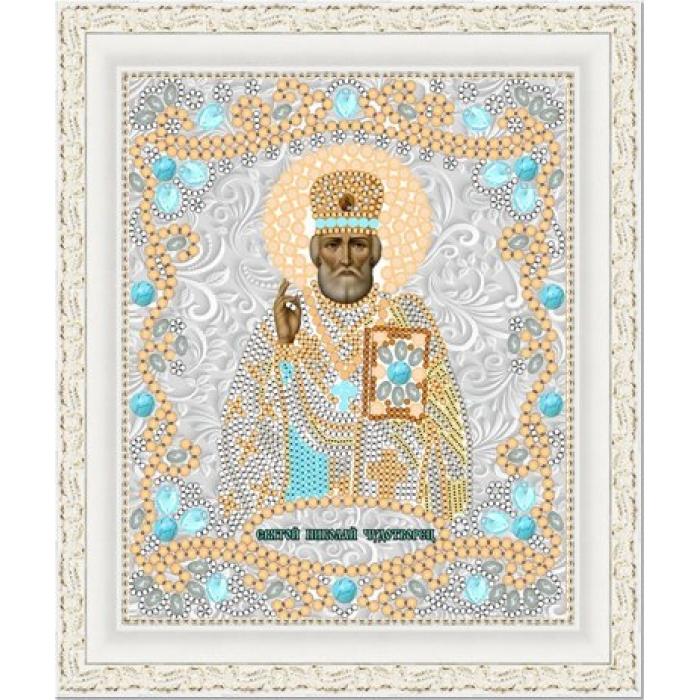 Рисунок на ткани (Бисер) КОНЁК арт. 7118 Св. Николай Чудотворец 15х18 см