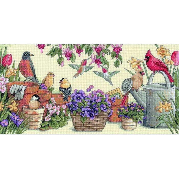 """Набор для вышивания Classic Design арт.4390 """"Садовые друзья"""" 46х23 см"""