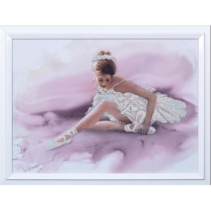 Набор для вышивания бисером МАГИЯ КАНВЫ арт.Б099 Белый лебедь 41х30 см