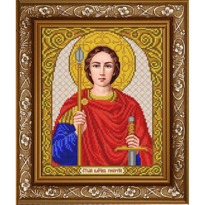 Рисунок на габардине СЛАВЯНОЧКА арт. ИС-4078 Святой Георгий 20х25 см
