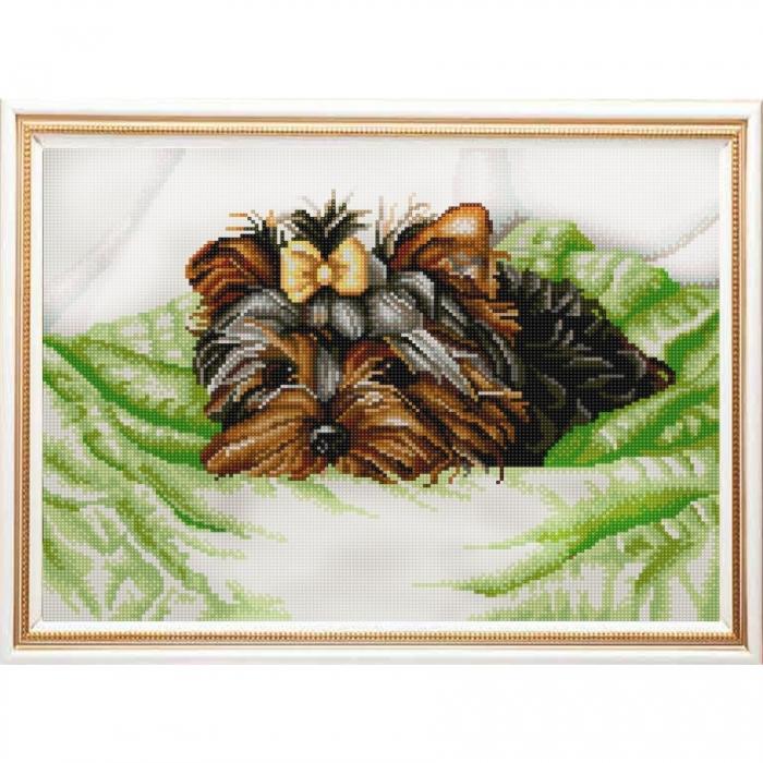Рисунок на ткани (Бисер) КОНЁК арт. 9941 Йоркширский терьер 29х39 см