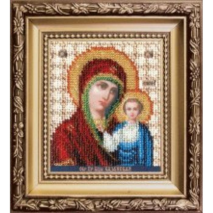 Набор для вышивания бисером ЧАРИВНА МИТЬ арт.Б-1116 Икона Божьей Матери Казанская 9х11 см