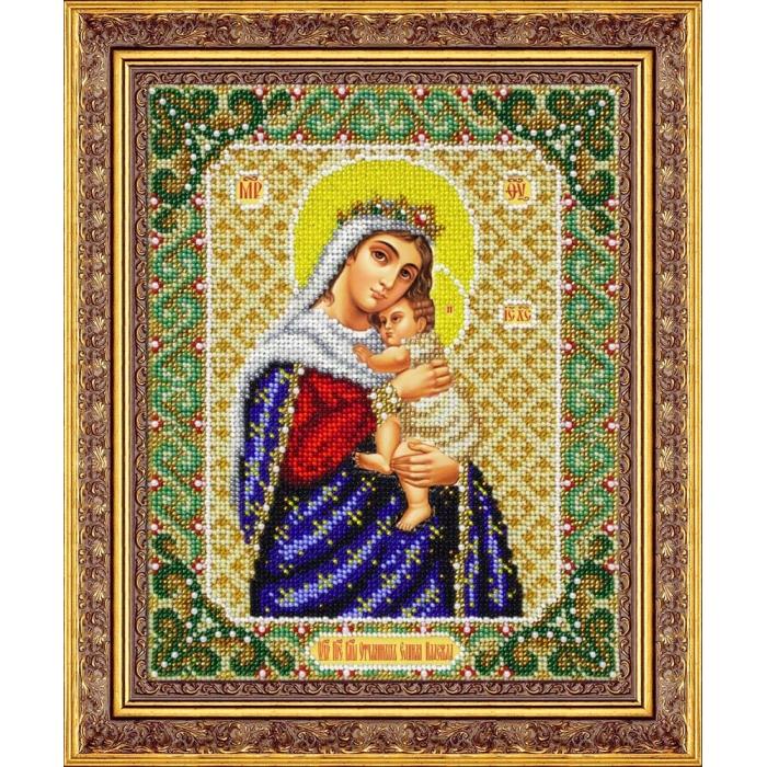 Набор для вышивания бисером ПАУТИНКА арт.Б-1062 Пр.Богородица Отчаянных единая надежда 20х25 см