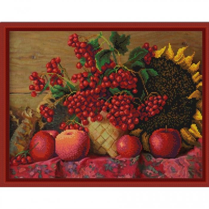 Рисунок на ткани (Бисер) КОНЁК арт. 9831 Калина красная 29х39 см