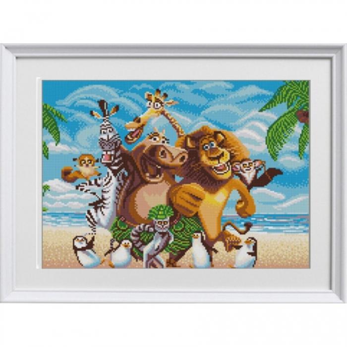 Рисунок на ткани (Бисер) КОНЁК арт. 1310 Мадагаскар 29х39 см