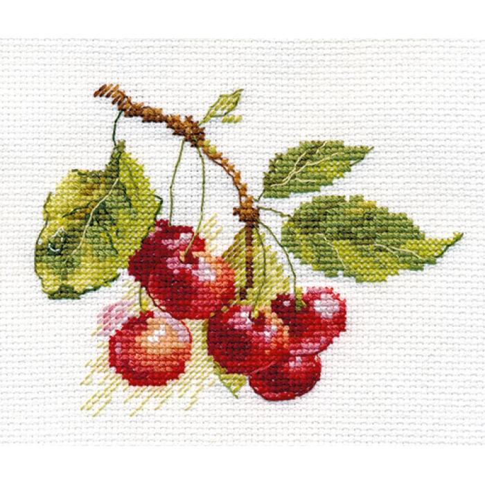 Набор для вышивания АЛИСА арт.0-140 Вишня 11х8 см
