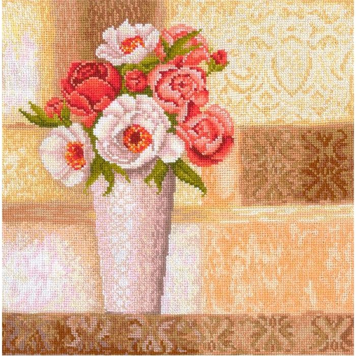 Набор для вышивания СДЕЛАЙ СВОИМИ РУКАМИ арт.В-25 Винтажные розы 26х27 см