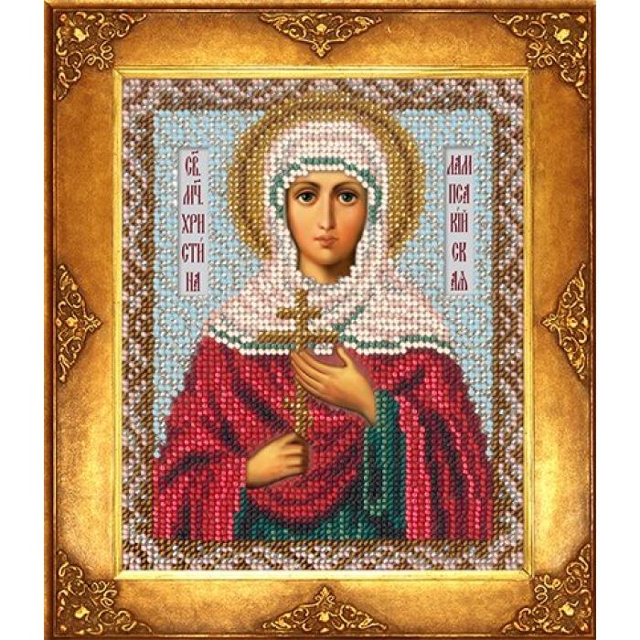 Набор для вышивания бисером РУССКАЯ ИСКУСНИЦА арт.232 БИ Святая Кристина 12,5х16,3 см
